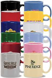 Promotional Coffee Mugs & Logo Printed Mug Styles: Photo, Ceramic, Porcelain, Glass, Budget, Latte, Acrylic, Stainless and More! Etched or Logo Printed Cup options.