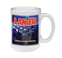 Full Color or Photo Printed Logo Mugs. Promotional Coffee Mugs Imprinted with a Photo or Full Color Design